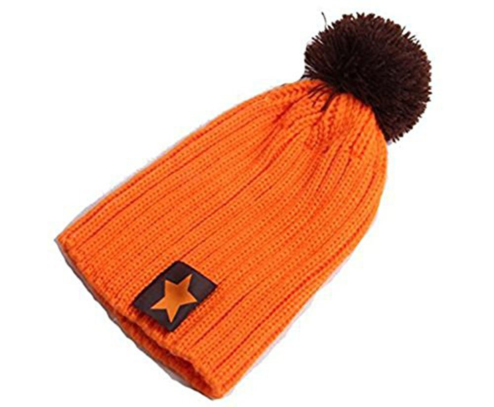 cosanter Cute Unisex Bebé Pentagram invierno Beanies gorro de punto, naranja