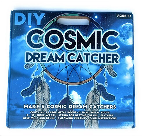 Create your own cosmic dream catcher makes 5 Dream Catchers DIY kit ()