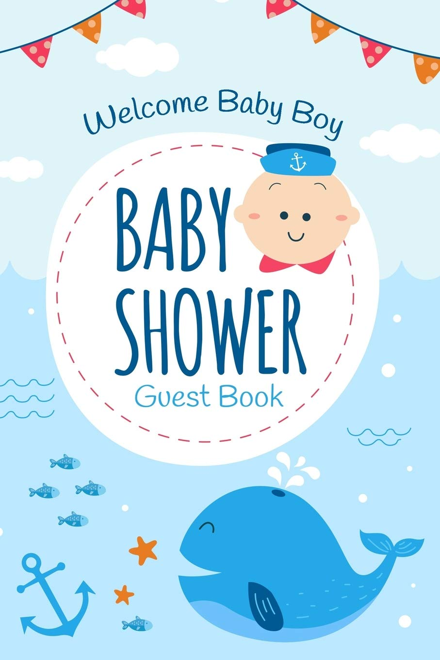 Baby Shower Advice Book Whale Baby Shower Baby Boy Shower Whale Baby Shower Guest Book Teal Whale Baby Shower Guest Book
