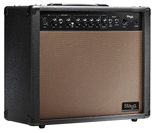 Stagg 60 AA R USA 60 Watt RMS Acoustic Guitar Amplifier with Spring - Guitar 60w