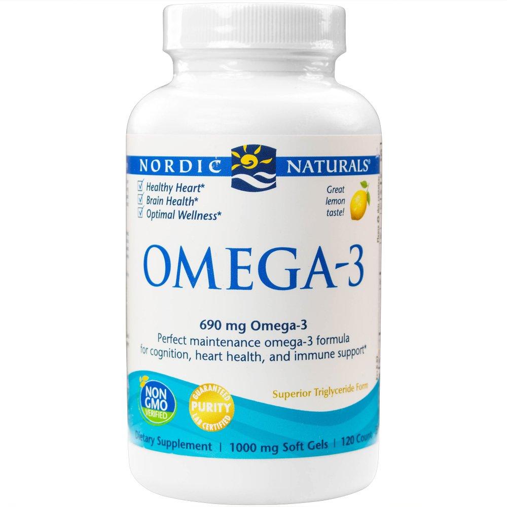 海外直送品Omega-3, 1000 mg, Lemon 120 softgels by Nordic Naturals B002CQU53W