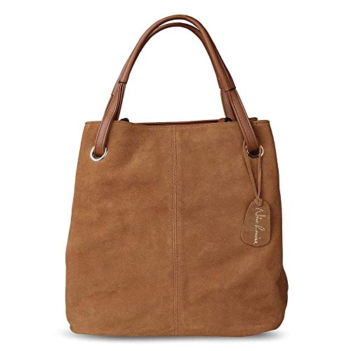 0291346489ff Amazon.com: Women Real Split Suede Leather Tote Bag,New Leisure ...