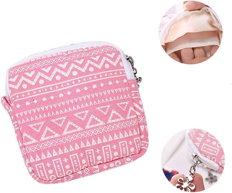 beautijiam Women Girls Sanitary Pad Organizer Holder Napkin Towel Convenience Bags Makeup Pouch
