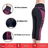 Picotee Women's Yoga Capri Pants Workout Running