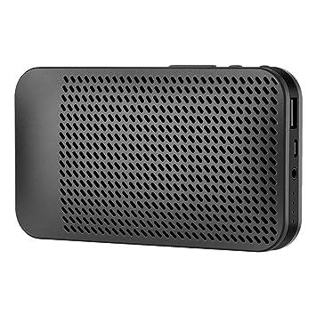 Beisoug MX7-B Altavoz portátil Ultrafino inalámbrico para Uso en ...