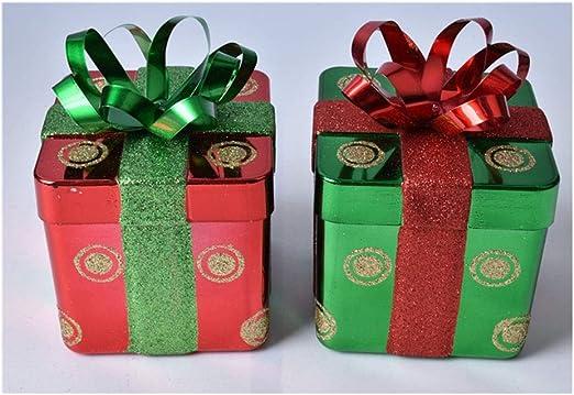 LBWT Navidad Tarro del Caramelo Decoración, Navidad Pintado Caja ...