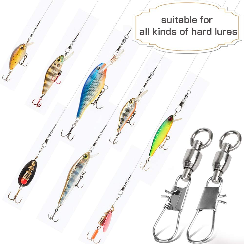 9Tong Fishing Swivels with Interlock Snap Ball Bearing Swivels Fishing Snap Swivels Saltwater Freshwater Fishing Tackle Leader Lure Jigs Line Fishing Connector