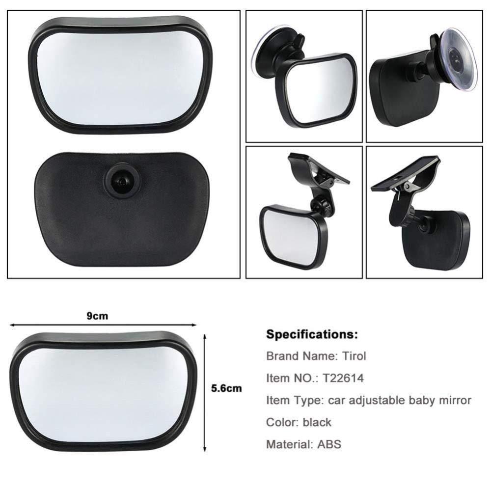 2 in 1 Mini seggiolino auto di sicurezza per bambini Specchietto retrovisore regolabile Regolatore convesso posteriore per auto Monitor per bambini