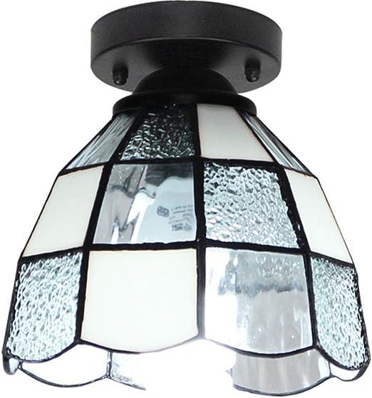 YHSGD Lámpara de Techo Tiffany Pantalla de Vidrio Estilo