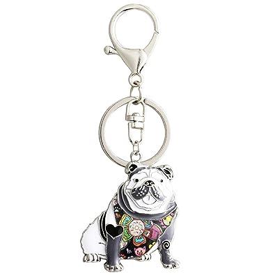 Amazon.com: Luckeyui - Llavero con diseño de bulldog inglés ...