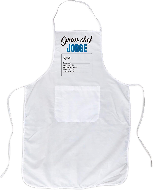 LolaPix Delantales Personalizados Hombre con Nombre. Regalos Personalizados Dia del Padre. Varios diseños. Delantal Chef Gran Chef