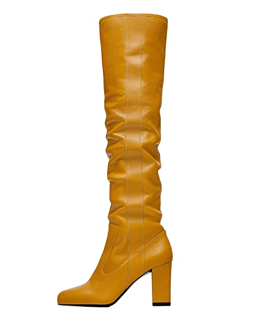 e1c56f68f4ffd Image Unavailable. Zara Women High-Heel Leather Boots ...