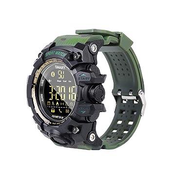 LLLS SmartWatch, Relojes Inteligentes para los Hombres, Tres Anti-Camuflaje Correa Deportes al Aire Libre Ver Deportes Caminar con Monitor de sueño Smart ...