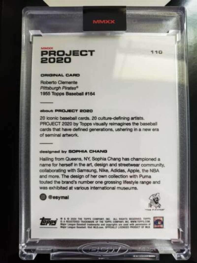 2020 Topps Project 2020 Baseball #110 Roberto Clemente Pittsburgh Pirates by Artist Sophia Chang 1955 Topps Online Exclusive Limited Production