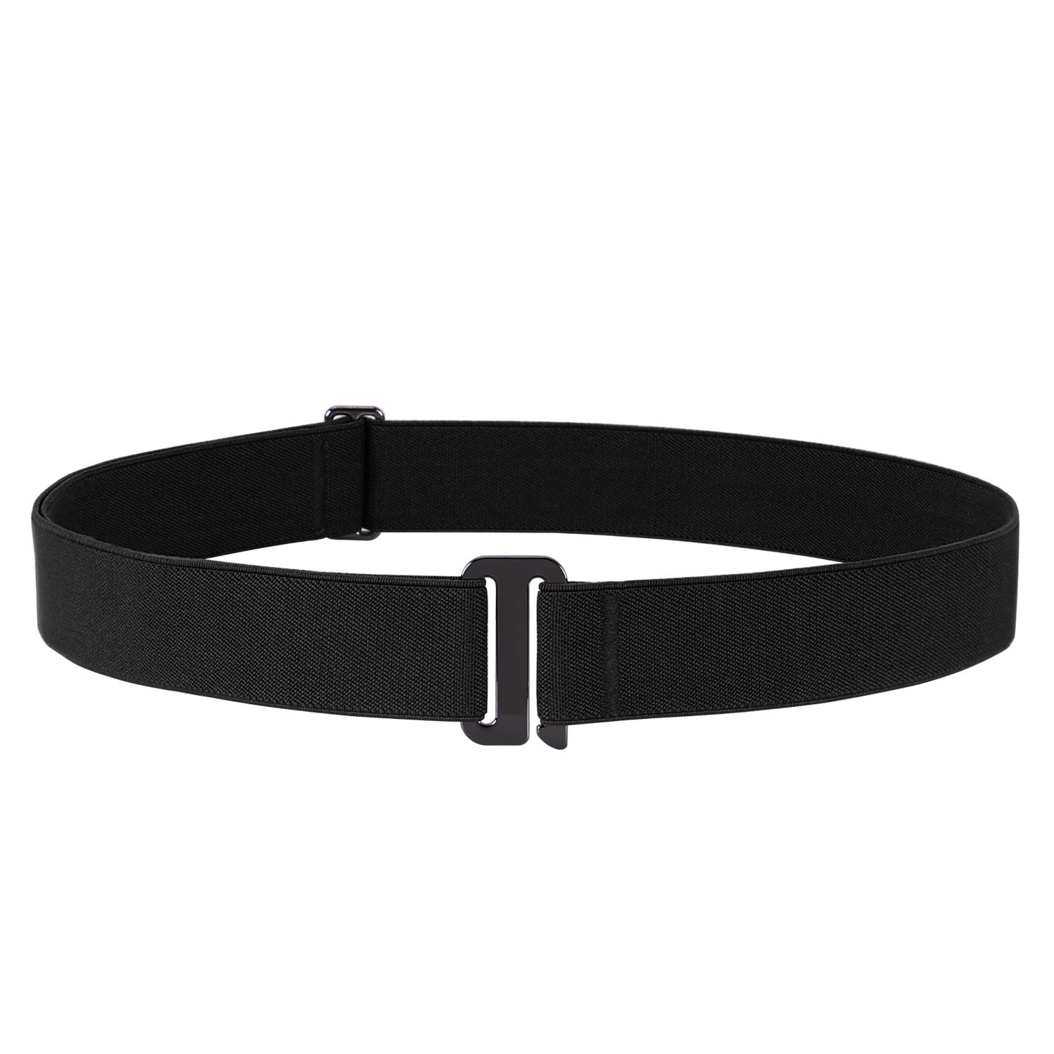 "No Show Stretch Men Belt Invisible Elastic Web Belt with Flat Buckle 1.38"" Wide"