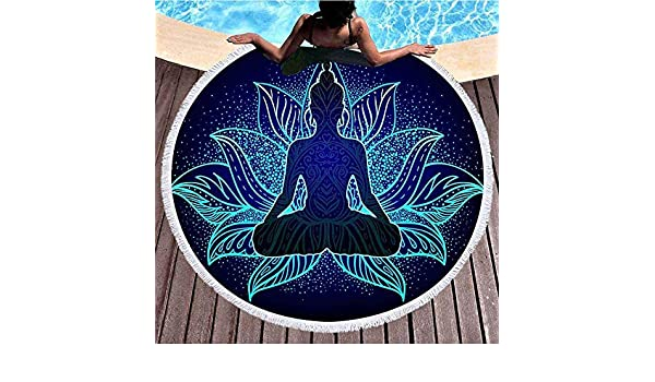 Amazon.com: Thick Round Beach Towel Bach Blanket,Sitting ...