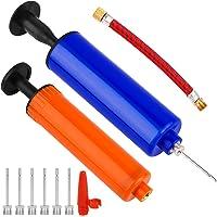WXJ13 2 Pack opblaasbal pomp, Hand Air Ball Pomp set met naaldpennen ventiel Adapter Adapter voor voetbal basketbal…