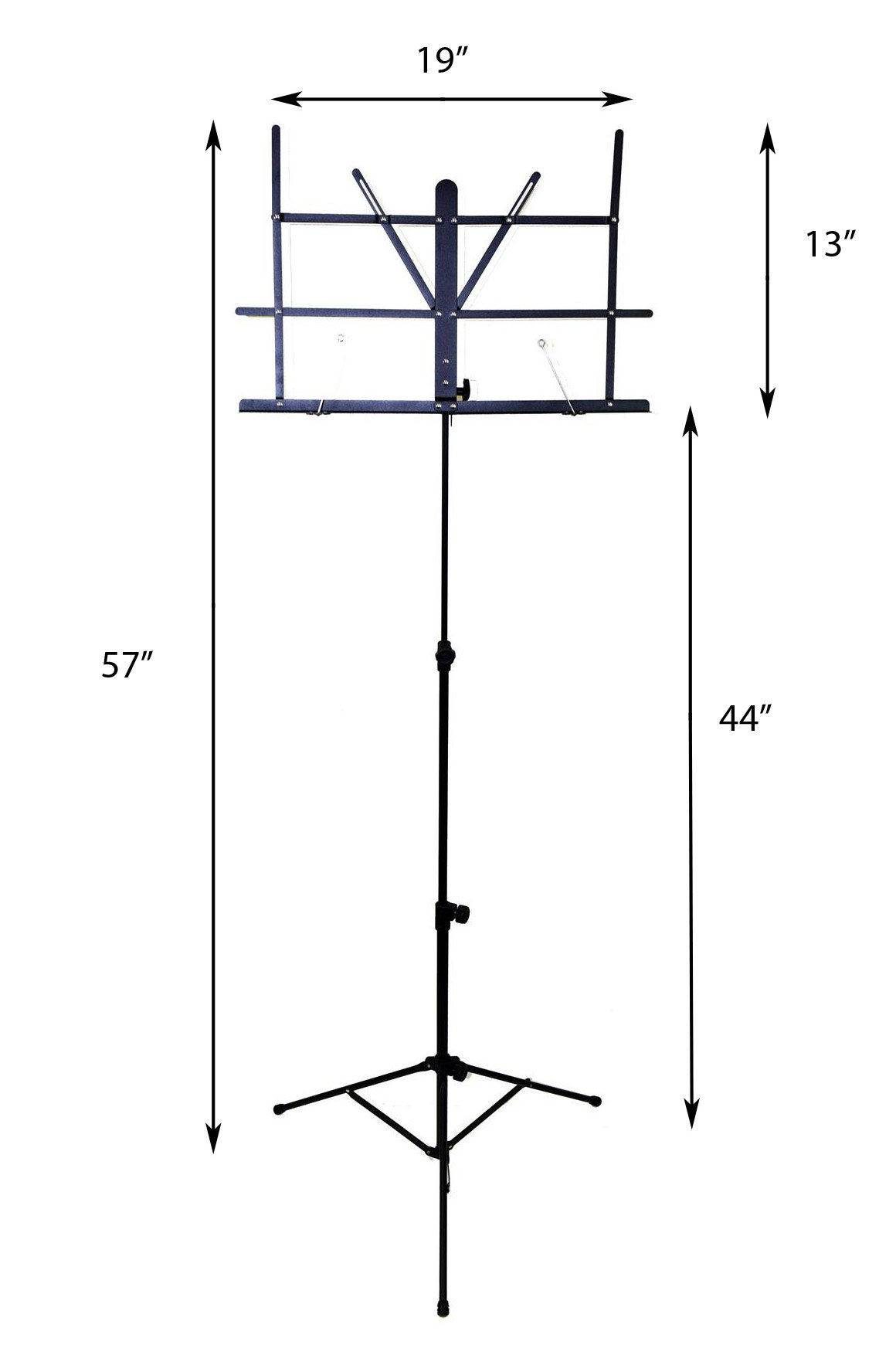 Hisonic Signature Series 7121 Two Section Folding Music Stand with Carrying Bag by Signature Music Instruments (Image #1)