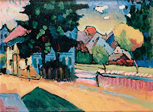 (Oil Painting 'Kandinsky, Vasily_1908_View Of Murnau', 20 x 27 inch / 51 x 69 cm , on High Definition HD canvas prints is for Gifts And Bath Room, Garage And Home Theater Decoration, diy)