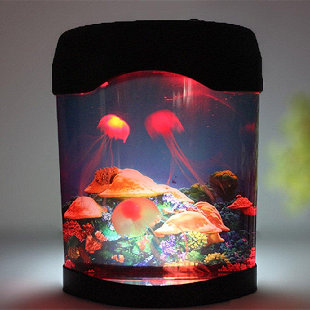 Aquarium Jellyfish NHSUNRAY Creative Simulation Decoration Brillante Artificial Colorido Relajante Mood Night Lamp Aplicar a sala de exposiciones ...