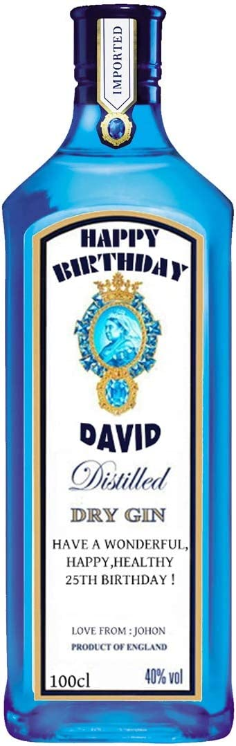 Etiqueta personalizada para botella de ginebra Bombay Zafiro ...