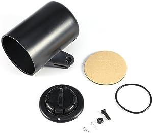 """Black 2"""" 52mm Universal Single Hole Dashboard Gauge Mount, Car Dash Gauge Holder Pod Mount for Vehicle Car Truck"""