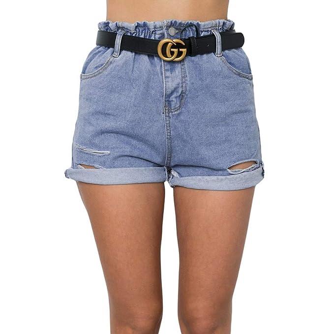 Amazon.com: VIGVOG - Pantalones cortos de mezclilla de ...