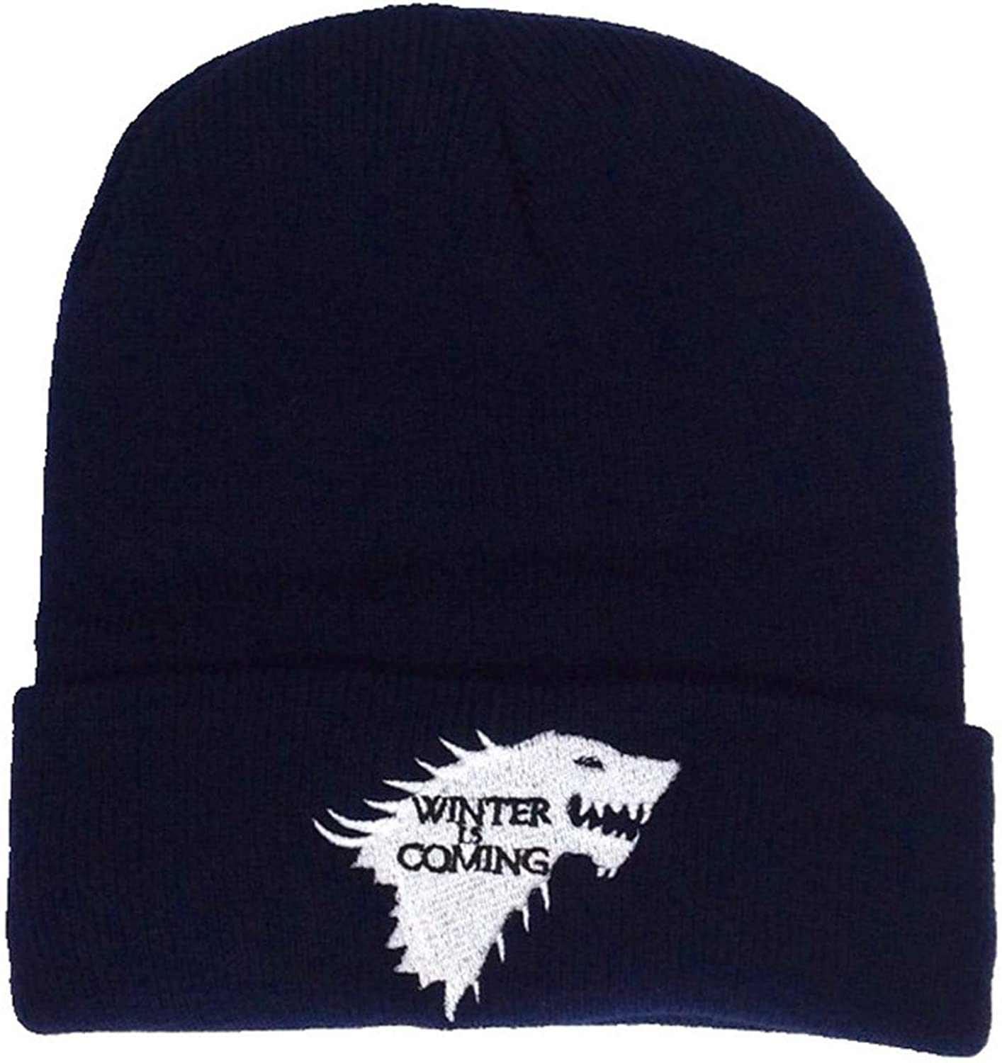 Stark Beanie Hat Knit Cap Unisex Adjustable Cosplay Hats Canis Dirus Winter is Coming