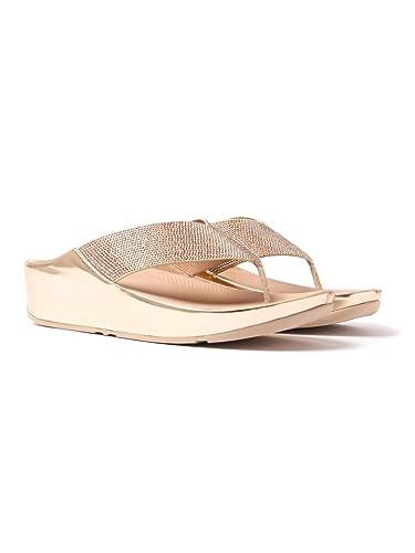 FitFlop Crystall Womens Fuß Post Sandalen 6 UK/39 EU Rose Gold 20kOatE