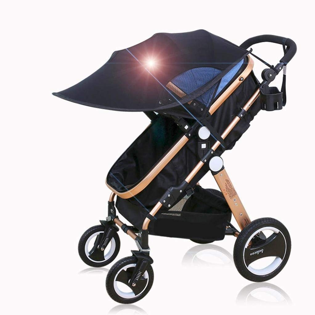 ZLMI Baby Sun and Sleep Stroller Cover - Baby Stroller Sunshade Newborn Pushchair Infant Prams Sun Shade Ultraviolet-Proof Cover Blackout Blind by ZLMI (Image #5)