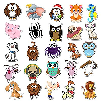 50 Pcs Trendy VSCO Stickers Pack Pink Purple, Colorful Cute VSCO Stickers Animal Cartoon Stickers for Laptop Phone Luggage Skateboard Phone, Waterproof Vinyl Decals, VSCO Girl Stuff (AZ045-animals): Kitchen & Dining