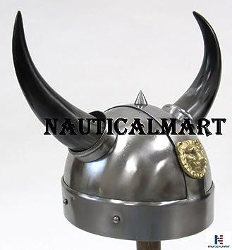 Armor casco vikingo cuerno auténtico reproducción Guerrero Halloween Disfraz