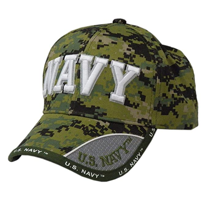 98cd4144877b7 Image Unavailable. Image not available for. Color  US HONOR TM Embroidered  Digital Camo Pixel Navy Text Baseball Caps Hats