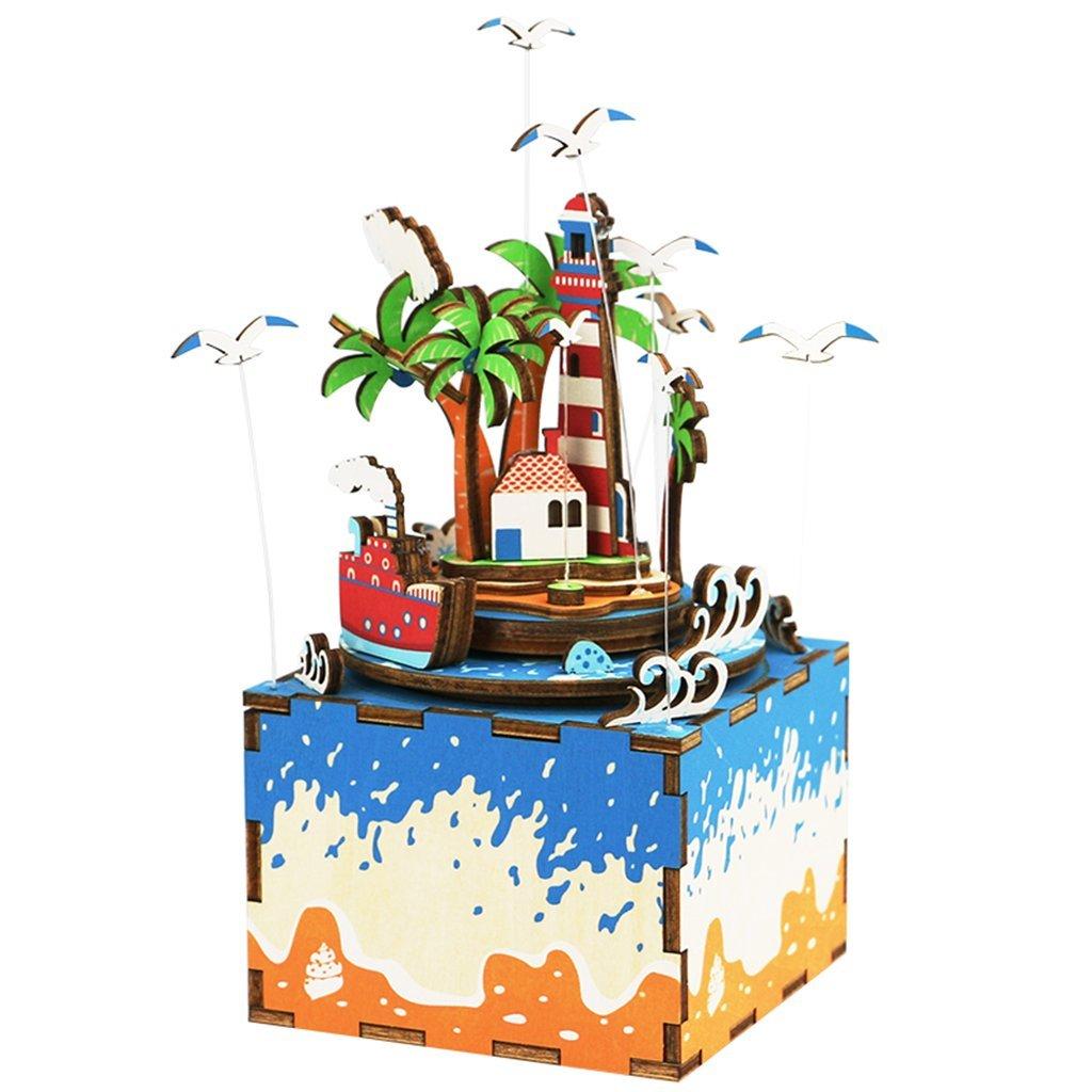 1着でも送料無料 Homyl Novel B-day -/クリスマスギフト B07FTK5BVV DIY 木製オルゴール 教育玩具 3Dジグソービルディングキット 教育玩具 デスク/オフィスオーナメント - 愛のアイランド B07FTK5BVV, アンティークハウス ペルラ:36d9b268 --- arcego.dominiotemporario.com