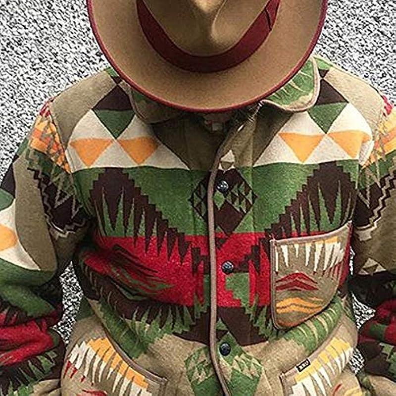 oneforus Męskie personalisierte Print Cardigan Mantel Mode Retro Strickmantel: Odzież