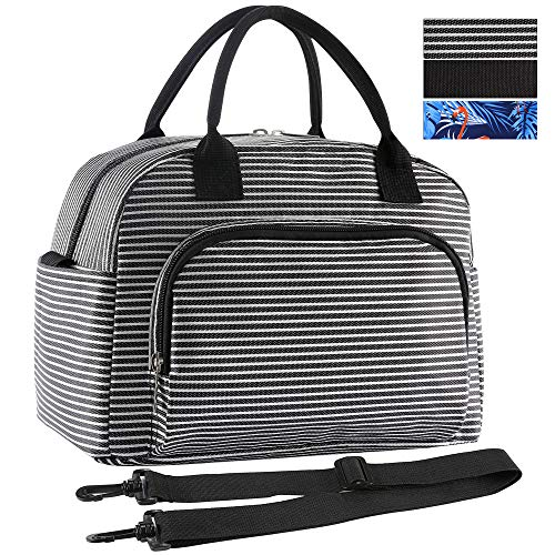 ORASANT Lunch Bag, Large& Durable Insulated Water-resistant Cooler& Thermal Lunch Bag for Women and Men, Fashionable Lunch Box with Detachable Shoulder Strap for Work, School, Beach, Picnic, Camping