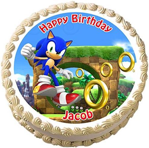 Amazon.com: Sonic el erizo Cumpleaños Comestible Decoración ...