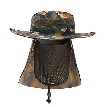 b3fb10ebb6e7d Hengzhi Man Women Camouflage Summer Outdoor Sun Protection Fishing Cap Neck  Face Flap Hat Wide Brim