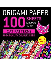 """Origami Paper 100 sheets Cat Patterns 6"""" (15 cm): Tuttle Origami Paper: High-Quality Double-Sided Origami Sheets Printed with 12 Different Patterns: Instructions for 6 Projects Included"""