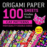 """Origami Paper 100 Sheets Cat Patterns 6"""" (15 CM): Tuttle Origami Paper: High-Quality Double-Sided Origami"""