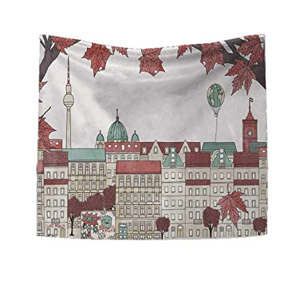 Amazon.com: RuppertTextile German Square Tapestry Monochrome ...