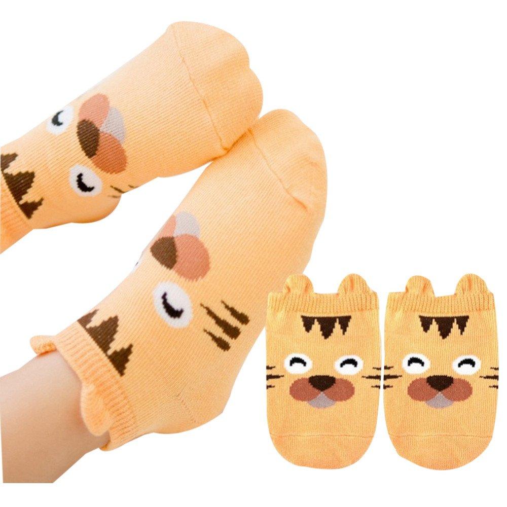 ❤️ Mealeaf ❤️ Baby Infant Socks Newborn Cotton Boys Girls Cute Cartoon Toddler Anti-Slip Socks