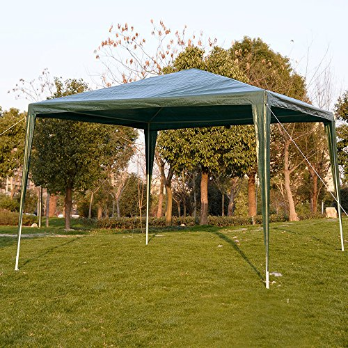 Canopy Tent Wedding Party Gazebo - Outdoor Portable Sun Shade Shelter For Cater Events Garage Yard Sales Flea Markets Trade Shows - Waterproof Pavilion for Backyard Patio Camping Picnics - 10 x 10 Ft by DUSTNIE