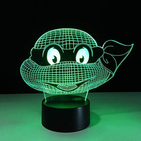 Teenage Mutant Ninja Turtles Head Table Lamp 7 Colors ...