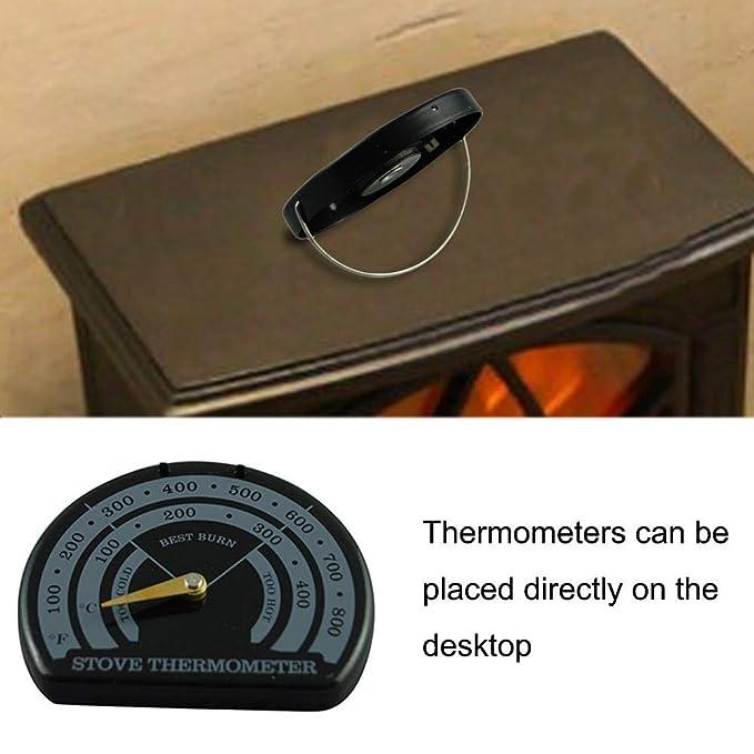 pegtopone Termómetro magnético para Horno, Estufa de leña ...
