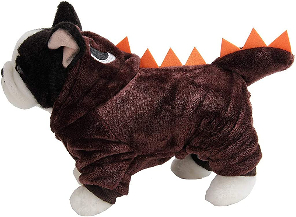 Winter Warm Thick Plush Puppy Dog Hoodies 3D Animal Pet Clothes Cute AmyDong