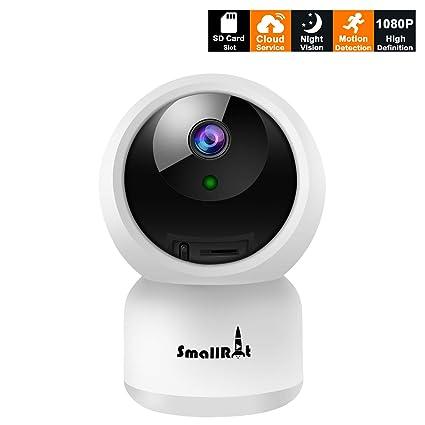 Cámara Vigilancia IP WiFi,Camara Interior 1080P Full HD P2P con Visión Nocturna,Audio Bidireccional,Detección de Movimiento,Alarma Email,Compatible ...
