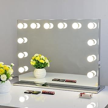 Schminktisch Spiegel Mit Beleuchtung | Amazon De Chende Rahmenlos Schminkspiegel Mit Beleuchtung Buhne