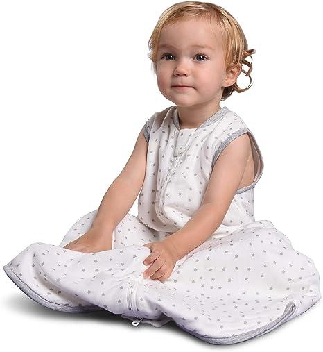 Momcozy Saco de Dormir para Bebé, Saco de Dormir 2 en 1 30% Algodón +