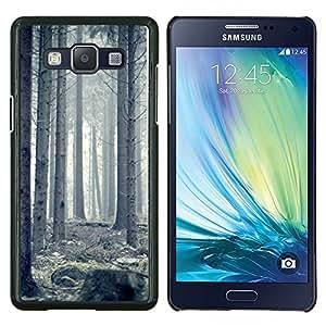 LECELL--Funda protectora / Cubierta / Piel For Samsung Galaxy A5 A5000 -- Blanca Forrest --